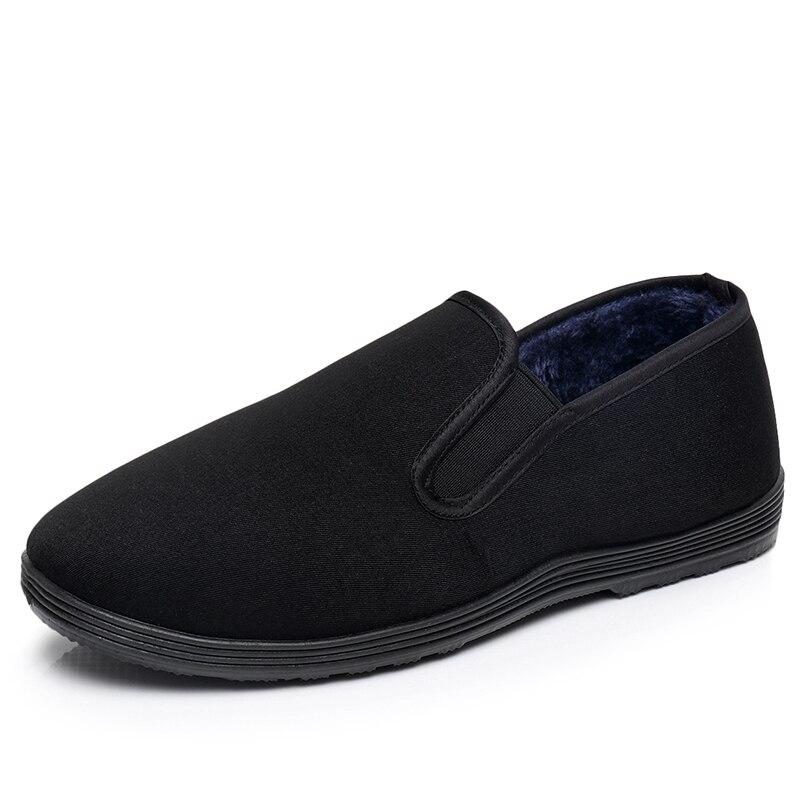 Зимняя хлопковая обувь Брюс Ли Винтаж китайский Одежда высшего качества обувь кунг-фу WingChun занятий тапочки M Книги по искусству ial Книги по искусству чистый тапки