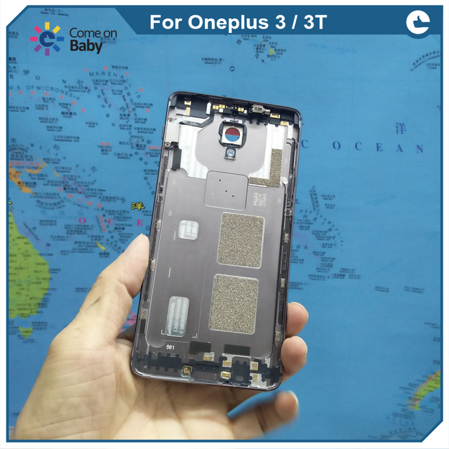 quality design 5b4c7 19bb1 US $7.03 12% OFF|Poriafl best For Oneplus 3 / Oneplus 3t Oneplus three  A3000 A3010 A3003 Battery Cover back cover Back Housing Door + camera  lens-in ...