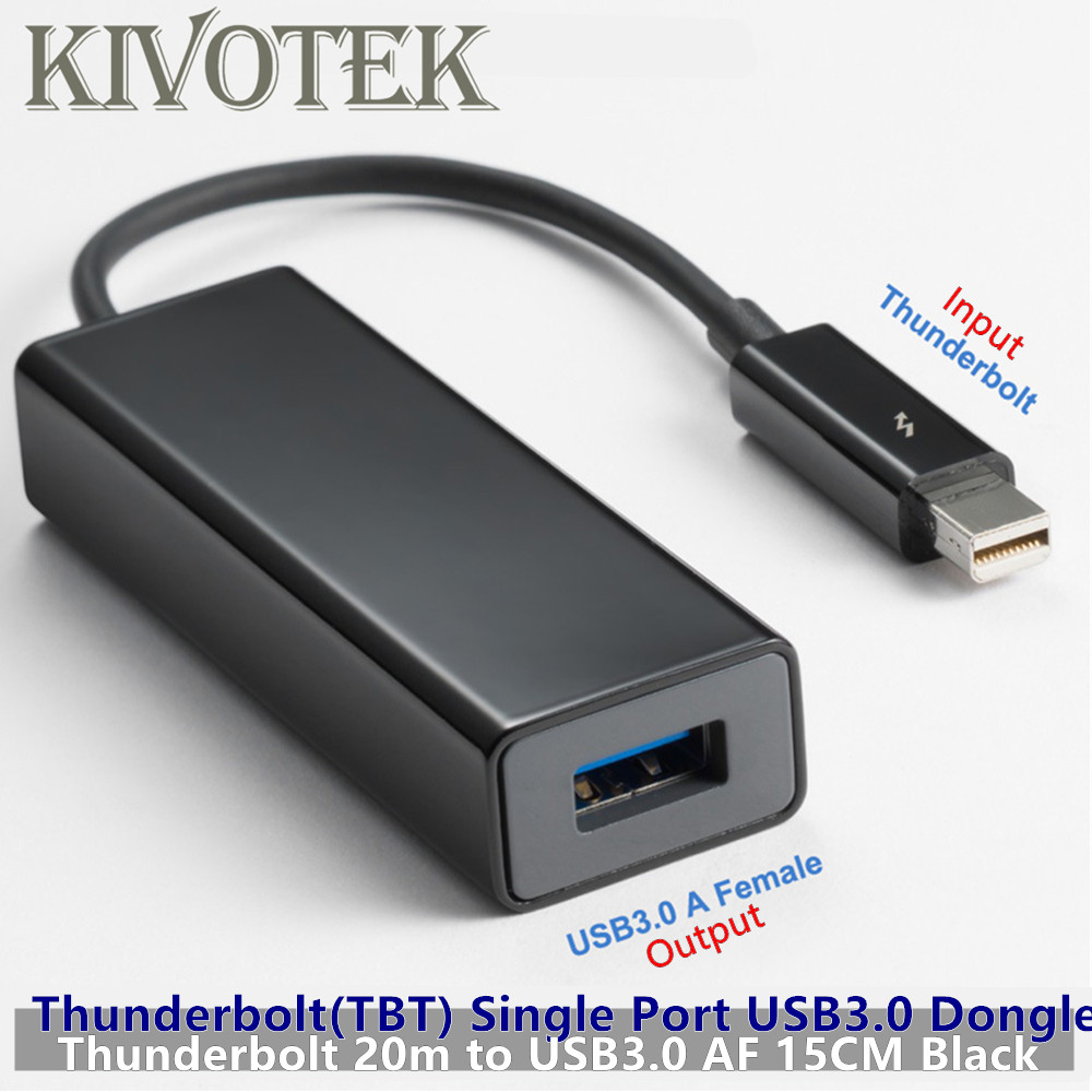 Hot Thunderbolt2 to USB3.0 Adapter Cable 15cm TBT 20M Single Port USB3.0A Female Connector Dongle For PCs Computer Free Shipping