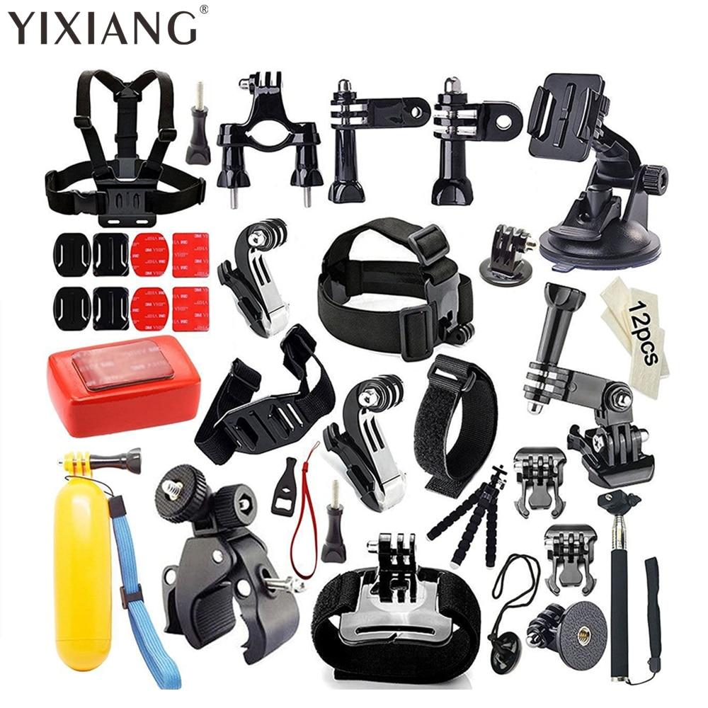 YIXIANG Accessories Bundle Kit for Gopro Hero 5/4/3/2/1, Sports Camera Accessories Set for SJ4000/5000/6000/7000, Xiaomi Yi sj4000 kit accessories sj4000 set accessories sj4000 bundle accessories hot sale