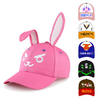 11 Styles Winjfo Embriodery Adjustable D Va Baseball Caps With Ears Dva Soldier 76 Genji Mercy