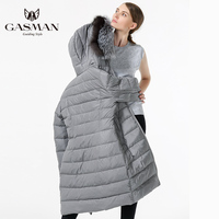 GASMAN 2018 New arrivals Woman Plus Size Thick Bio Fluff sintepon Down jacket Winter coat women With Natural Fur Collar