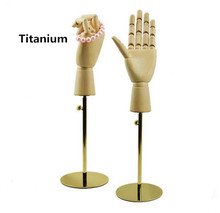 High-grade wooden hand model female show props wallet jewelry watch display stand Bracelet Rings rack