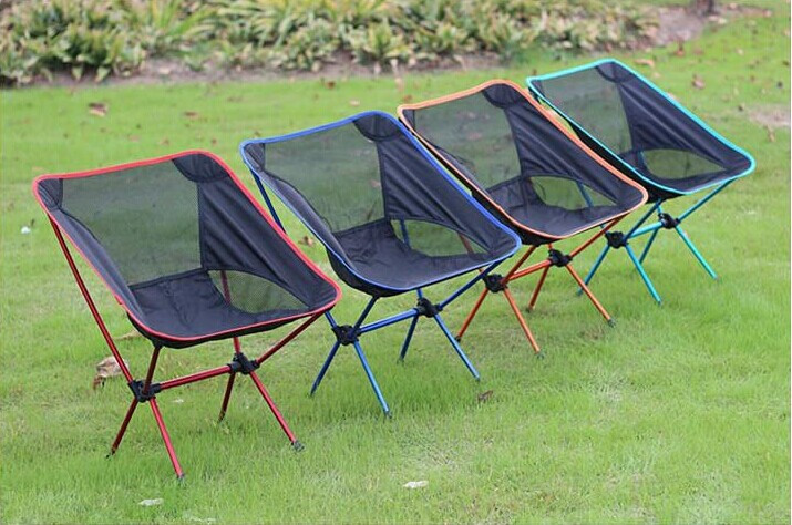 1pcs Folding chairs portable sandalye fishing chair folding Camping Stool Chair kamp sandalyesi 800D oxford cloth 4 color upscale folding chairs chair training chair the meeting chair