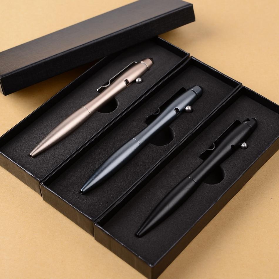Self-defense Tactical Pen Survival Portable Outdoor EDC Tool For Pesonal Women Security Aluminum Alloy Anti-attack Black Gold