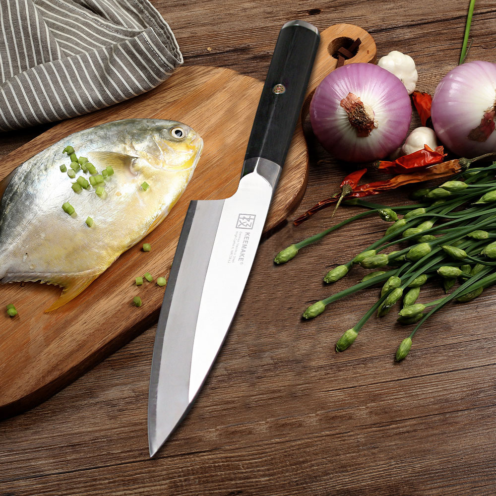 SUNNECKO 6.5 Deba Couteau Allemand 1.4116 Lame En Acier G10 Poignée Tête de Poisson Taillé Razor Sharp Cuisine Couteaux de Filetage pour d'os de poissons