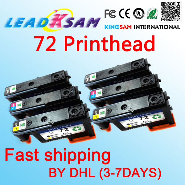 6x Fastshipping Printhead Compatible For Hp72 Designjet 2300/t610/ T620/t770/t790/t1100/t1120 Printer New Varieties Are Introduced One After Another