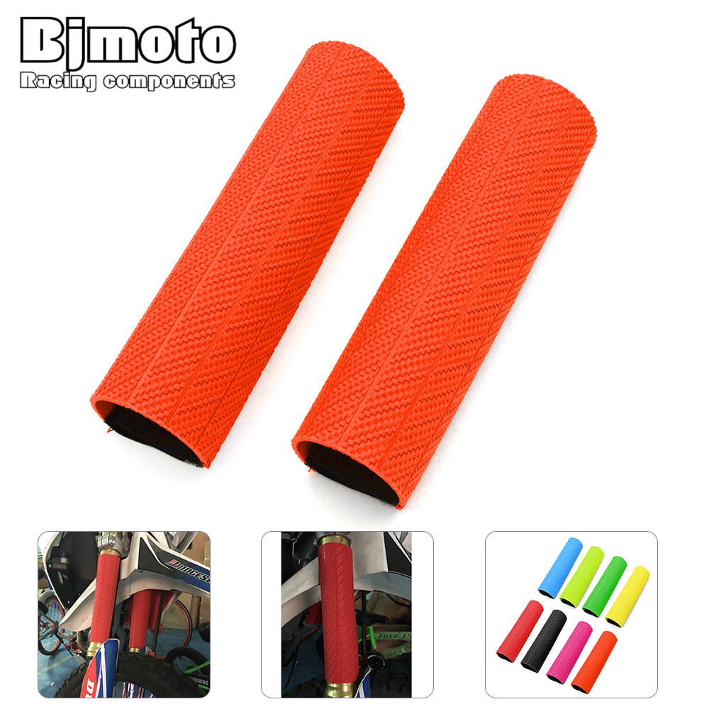 BJMOTO 1 Pair Universal Motorcycle Rubber Front Fork Protector Suspension Cover Gaiters Boot For Harley 1pcs rubber sleeve for air suspension spring repair kits landrover discovery 3 front oem rnb501580