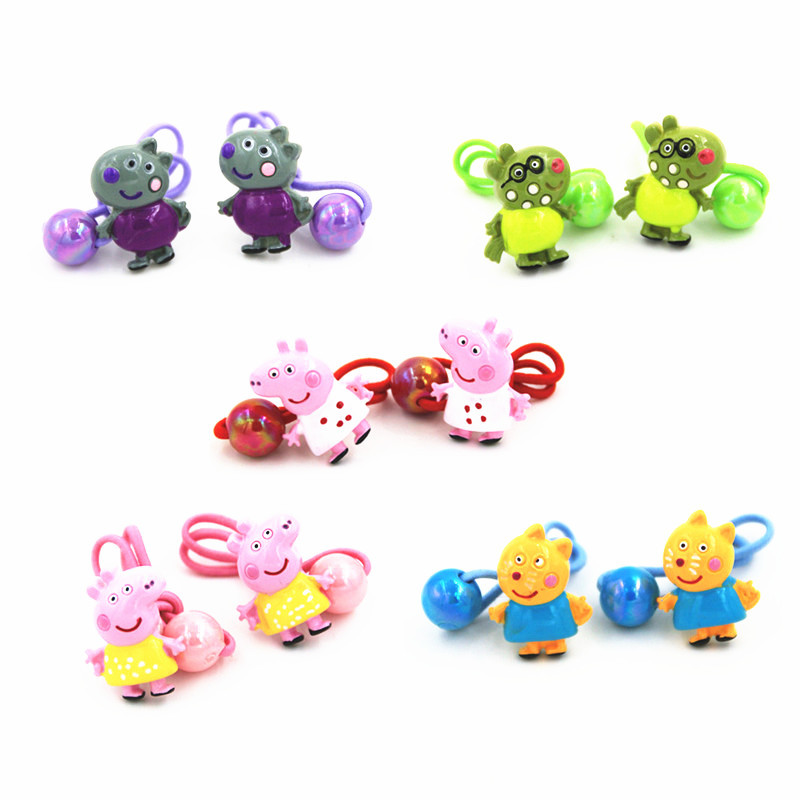 GG & MM Children's hair ornaments new jewelry wholesale cartoon animal hair band hair rope a pair of equipment han edition of the new bankcard yarn rope ribbon hair with hair hoop hair tire wholesale