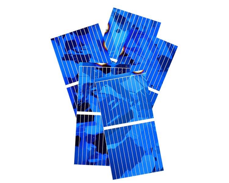 Aoshike 0.5V 0.45A Solar Panel Polycrystalline Silicon Solar Cells Solar Module DIY Solar Sunpower Charger Power 52*26mm 100pcs 11