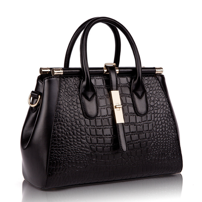 Famous Designer  Genuine Leather Handbags for Women Crocodile Hand Bag Ladies To