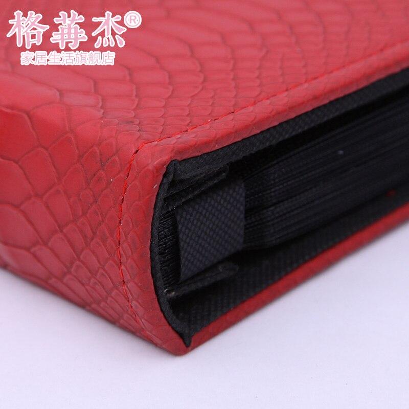 2015 new fashion big leather lattice album 6 inch 400 photos