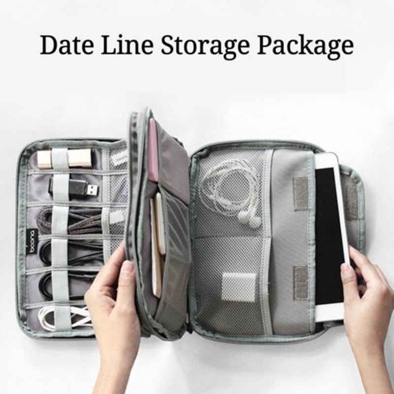 Cable organizer Bagk Trave Electronic Accessories Portable Case SD cards Flash Drives wires earphones double layer storage box