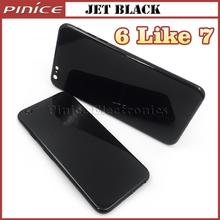 Matte Black Jet Black Housing For iPhone 6 6S 6Plus 6s Plus like 7 Style Aluminum Metal Back Case Battery Door Cover Replacement