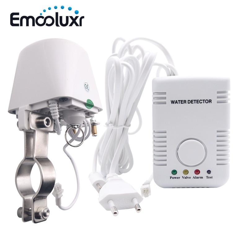 Alarme de vazamento de água detector de sensor de água inteligente sistema de alarme de segurança em casa w dn15 manipulador válvula & sensor de sonda de água sensível