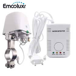 Fuga de agua alarma Sensor de agua Detector inteligente sistema de alarma de seguridad para el hogar w DN15 manipulador válvula y sensible agua Sensor de sonda