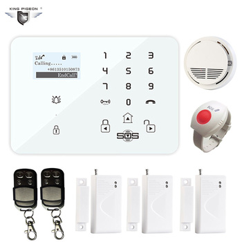GSM Home Security Alarm System with CO Sensor Door Contact Sensor Alarm Security System for Office Home K9C