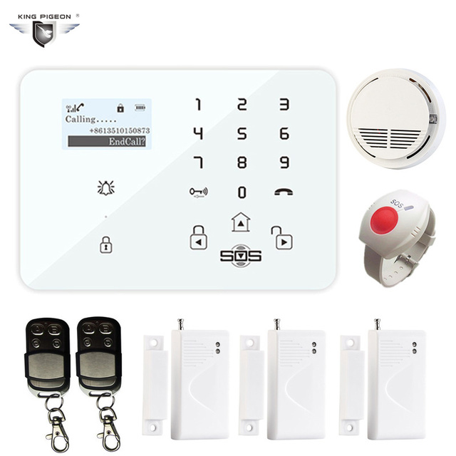 Best Price GSM Home Security Alarm System with CO Sensor Door Contact Sensor Alarm Security System for Office Home K9C