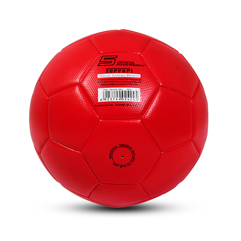 Official Size 5 Standard PVC Soccer Ball Outdoor Sport Training Football Balls Red Color For Kids Adult (1)