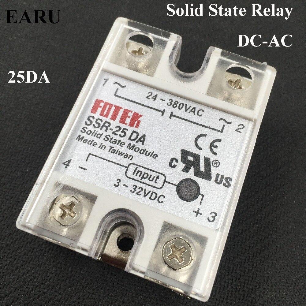 все цены на  1 pc FOTEK 250V 25A SSR-25 DA Temperature Control Solid State Relay -NEW SSR-25DA 25A Good Quality Hot Promotion Wholesale  онлайн