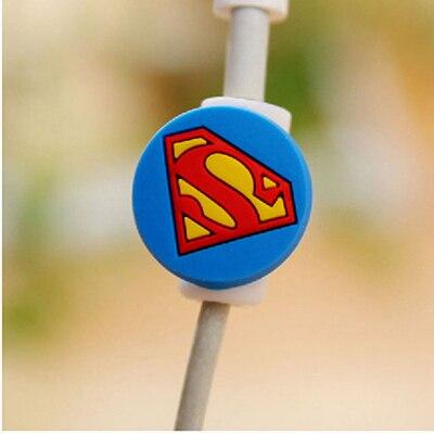 Универсальный мультяшный кабель Защитная крышка силиконовый мультфильм рисунок кабель моталки данных провода Органайзер для наушников компьютера - Цвет: Зеленый