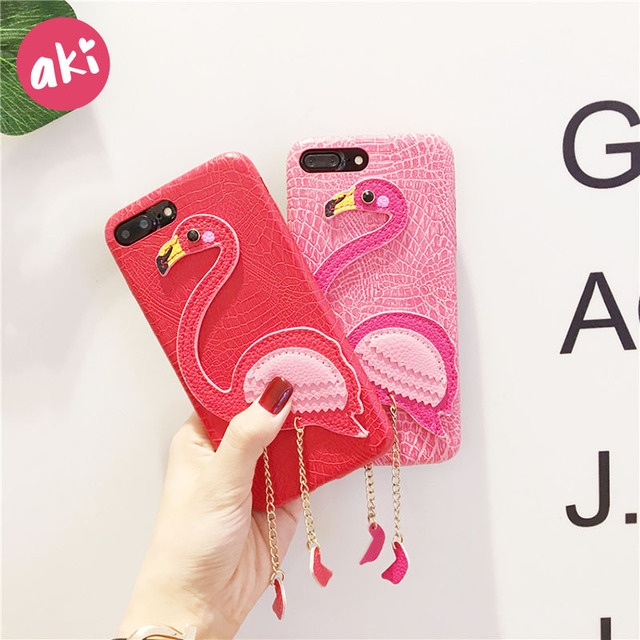 best website 885ff f6b51 Aliexpress.com : Buy AKI Leather Flamingo Phone Case for iPhone 8 7 7Plus  Case Vintage Flamingo Phone Cases For iphone 6 6S Plus PU Leather from ...