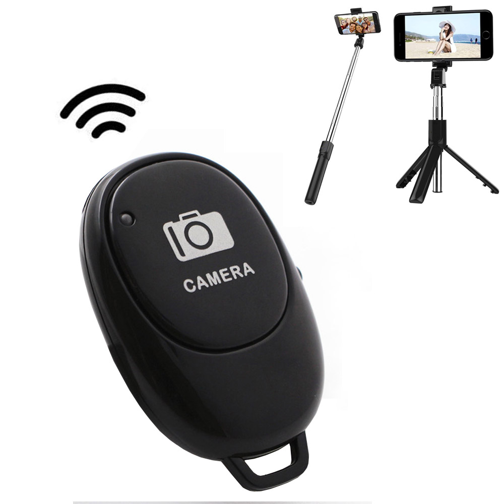 Wireless Bluetooth Camera Remote Control Self-timer Shutter blue new