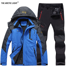 THE ARCTIC LIGHT Men Winter Waterproof Fishing Thermal Pant Trekking Hiking Camping Skiing Climbing Outdoor Jackets Set 6XL Suit