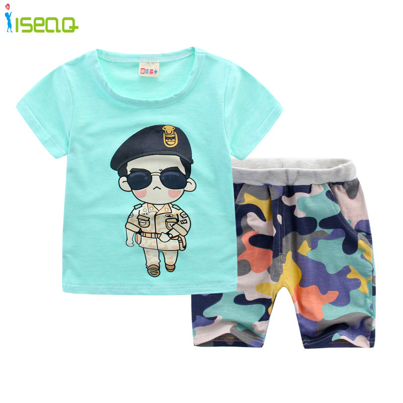 8604f84eaaae8 Children boy clothes Branded camouflage clothing Baby Boys Toddler Suits  Summer Kids Clothes Clothing Sets Short Sleeve Boys