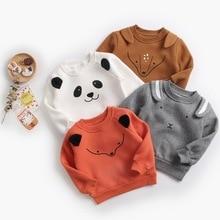 Infantil menino camisolas bebê meninas hoodies outono primavera inverno animal velo manga longa t shirts crianças roupas infantis blusa