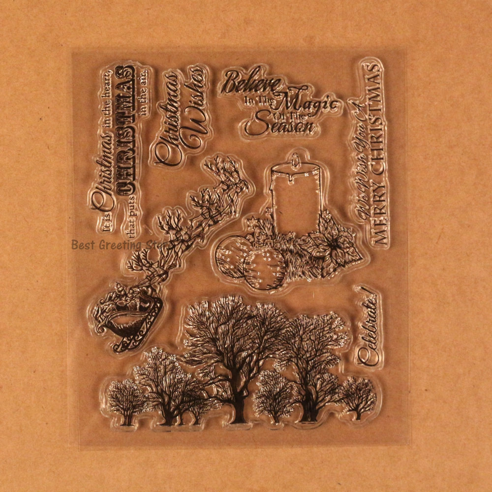 vintage christmas rubber stamps for scrapbooking and cardmaking 4 ...
