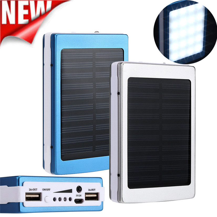 2017 new 10000mah dual usb portable solar battery charger. Black Bedroom Furniture Sets. Home Design Ideas