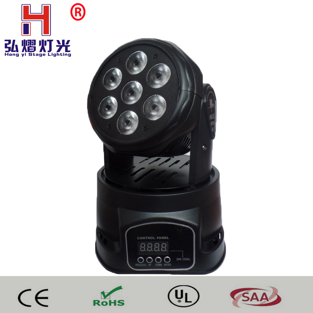 Mini led moving head Light 7x12W RGBW DMX LED wash Professional Stage Light DJ Equipment For Party KTV Disco DJ lighting 4pcs lot professional american dj led lighting led moving head light wash mini 7x12w rgbw dmx 7 12 channels