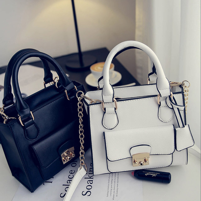 2016 New Fashion Women Handbags Famous Vintage Brand Design Ladies Luxury Bags Horseshoe Buckle Totes