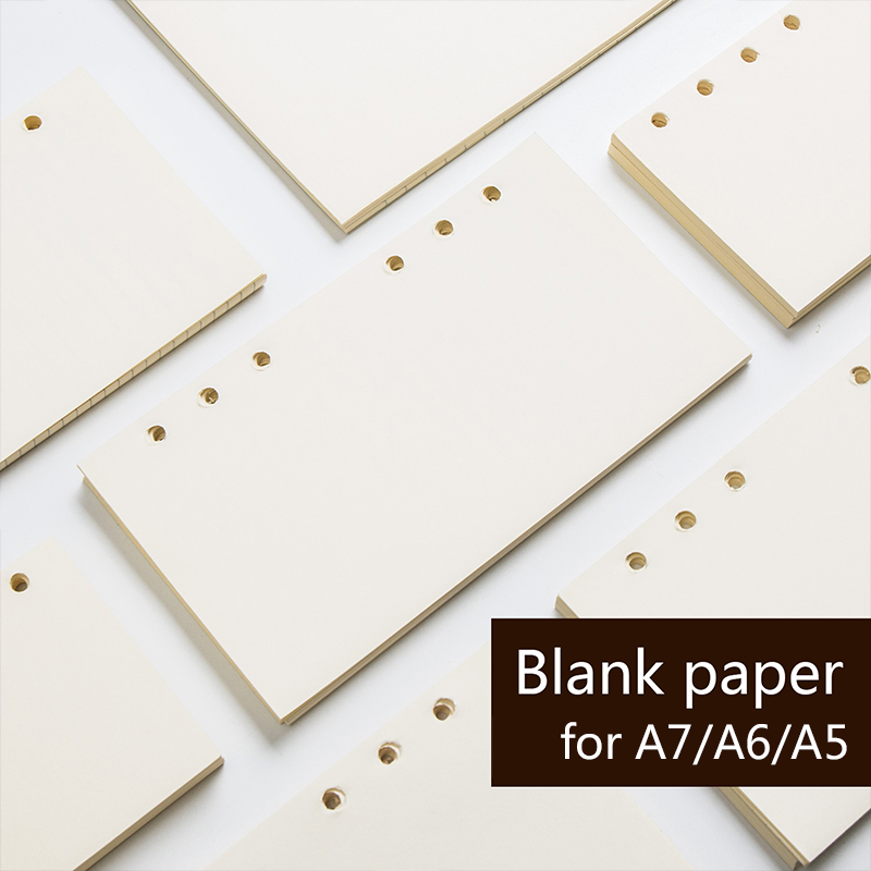 3 Pcs/lot A5 A6 A7 Loose Leaf Notebook's Filler  Papers 6 Holes Planner Inner Pages Stationery Office School Supplies
