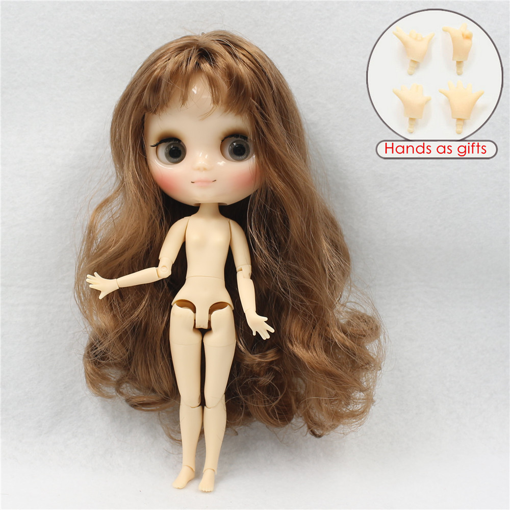 Middie Blythe Doll Brown Hair Jointed Body 20cm 1