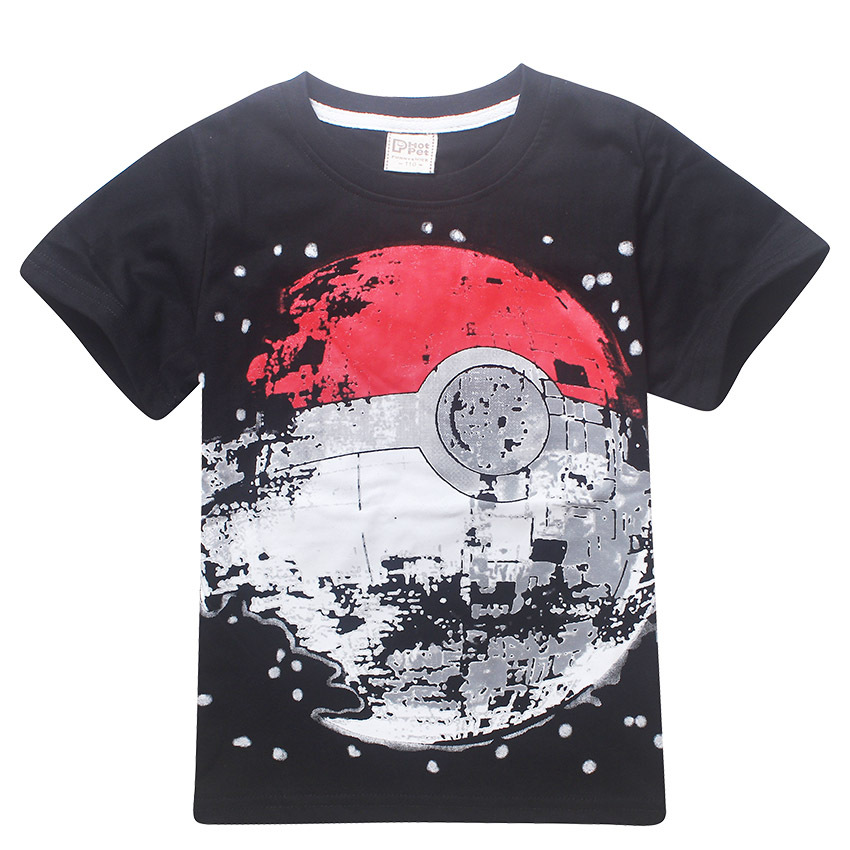 Children t shirts boys pokemon ball t shirt summer top tee for Best t shirts for summer
