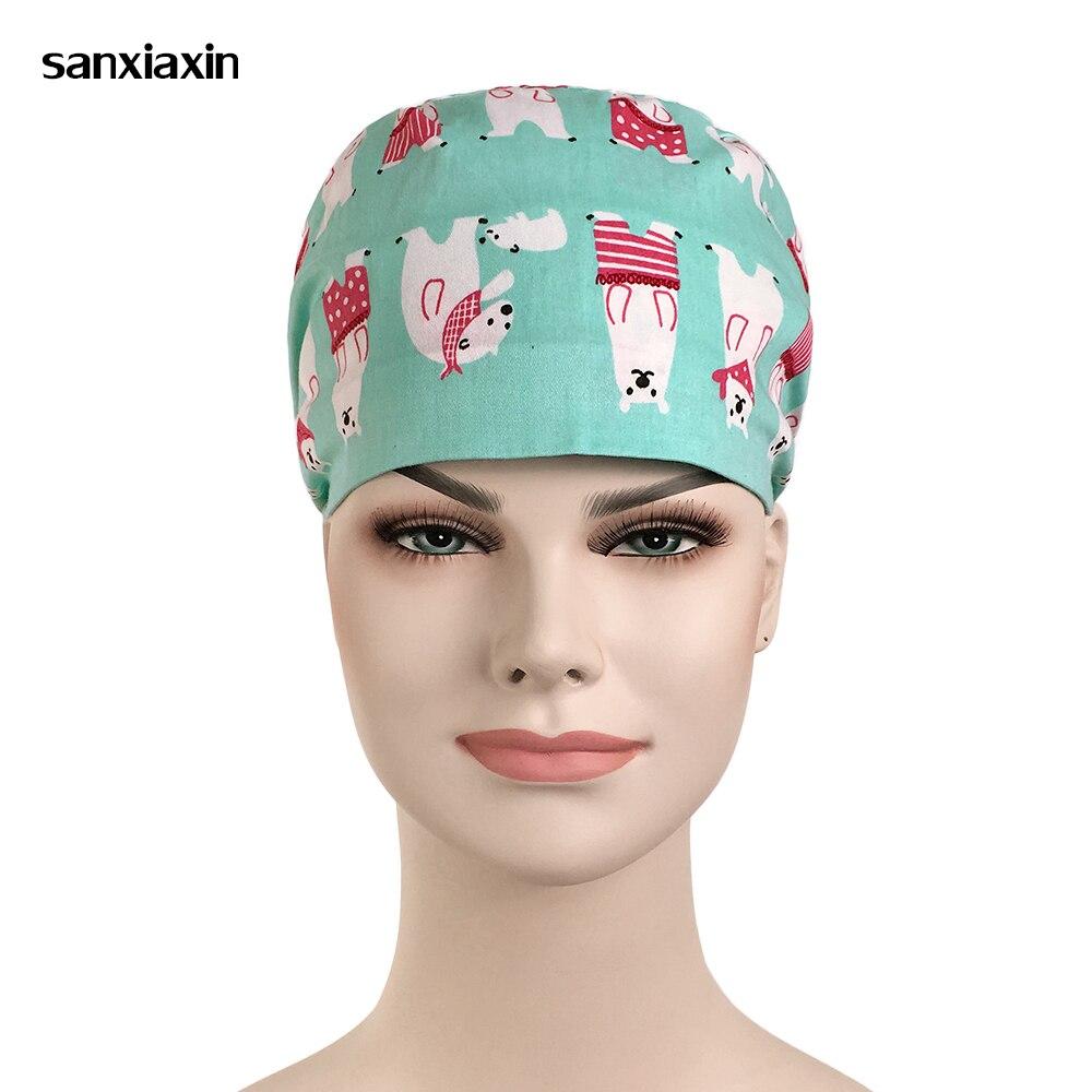 21ab3a7e288 Promozione Speciale all'ingrosso medico scrub chirurgico cappelli con  fascia clinica Pet grooming ospedale di
