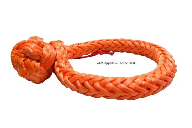 Manilles souples Orange 10mm * 80mm, manille de treuil ATV, manille de corde synthétique, manille de voile