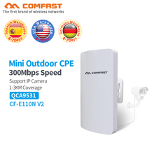 2PCS COMFAST mini CPE Outdoor wireless bridge router repeater 2.4Ghz 300Mbps 1-2KM