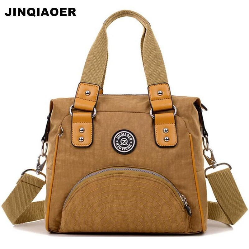 JINQIAOER Ladies Shoulder Bag Nylon Casual Tote Bags Vintage Designer Canta Waterproof  Women Handbags Female Crossbody Bags women handbag shoulder bag messenger bag casual colorful canvas crossbody bags for girl student waterproof nylon laptop tote