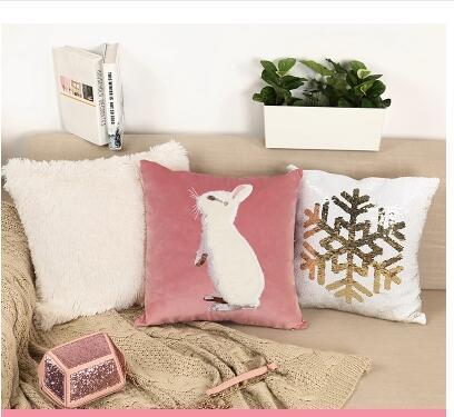 Cute rabbit Inspirational Print Car Decorative Throw Pillowcase Pillow cases Cushion Covers Sofa Chair Home Decor