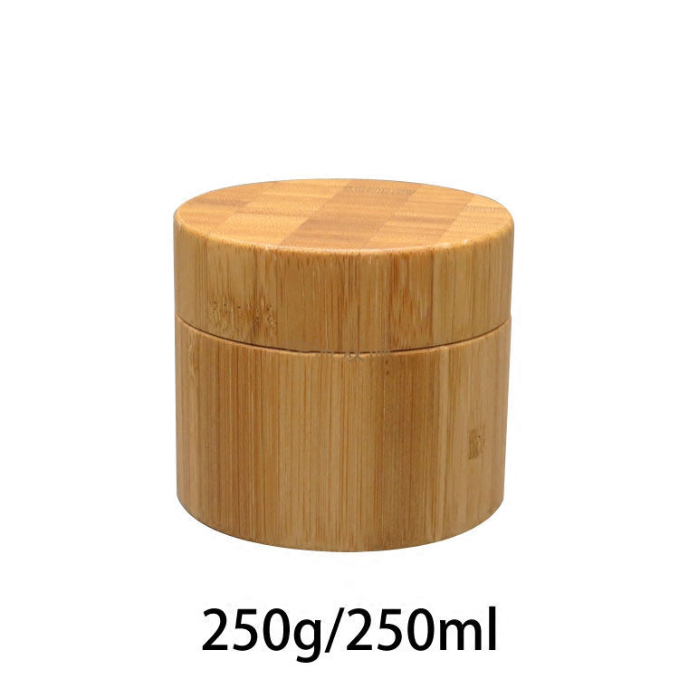 10pcs 250g Empty Bamboo Care Skin Cream Jar Pot with Plastic inner bottle 250ml Cosmetic Lotion Sub-Package Makeup Containers 200pcs x 200g big frosted abs plastic cosmetic packaging bath salt jar with wooden spoon
