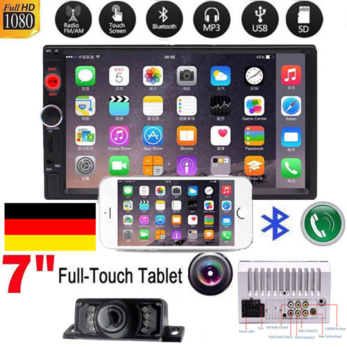 6.2 inch Touch Screen no DVD/CD Player Double 2-Din Car Stereo Radio Bluetooth Autoradio In Dash Aux USB SD+Free backup Camera rungrace rl 257wgdr02 6 2 inch lcd digital touch screen dvb t in dash car dvd player