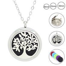 Panpan Jewelry! New arrival! 30mm aromatherapy pendant necklace 316l stainelsss steel oil diffuser necklace perfume lockets
