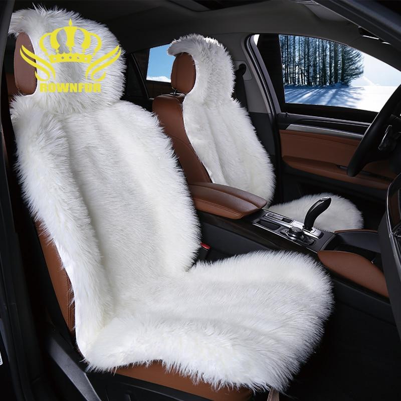 2шт искусственный мех автокресло крышка 5 цветов универсальный Размер для всех типов сидений очень теплый приятный и мягкий для автомобиля Лада Гранта