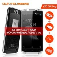 OUKITEL K10000 Android 5.1 4G BT4.0 5.5 inch HD IPS Screen MTK6735 64bit Quad Core 1.0GHz 10000mAh Battery 2GB 16GB Moblie Phone