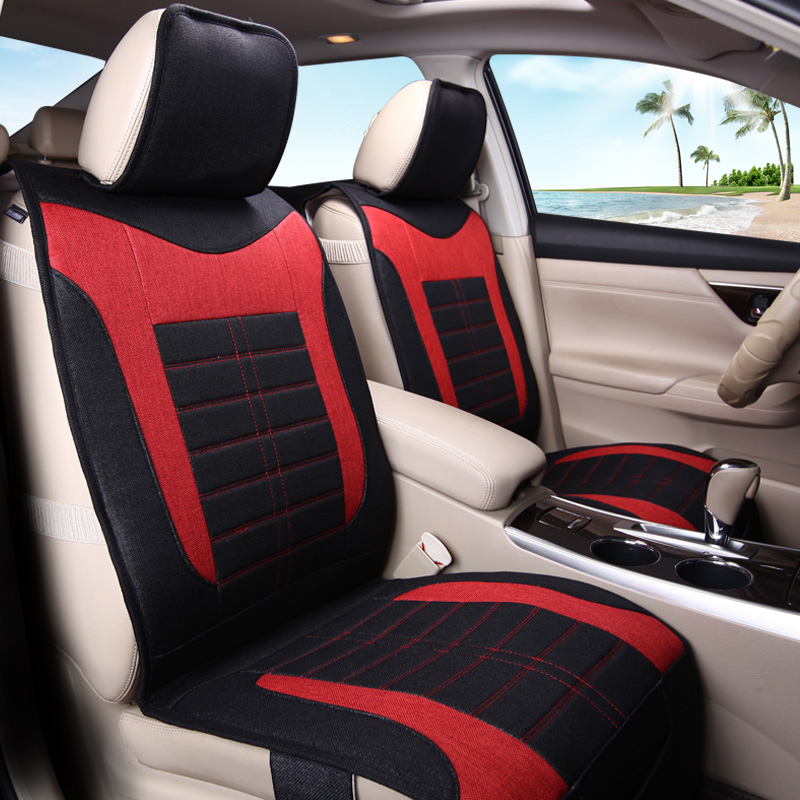3D Styling Flax Cushion Car Seat Cover For Skoda Octavia Superb Yeti Fabia spaceback Rapid isudar car multimedia player automotivo gps autoradio 2 din for skoda octavia fabia rapid yeti superb vw seat car dvd player