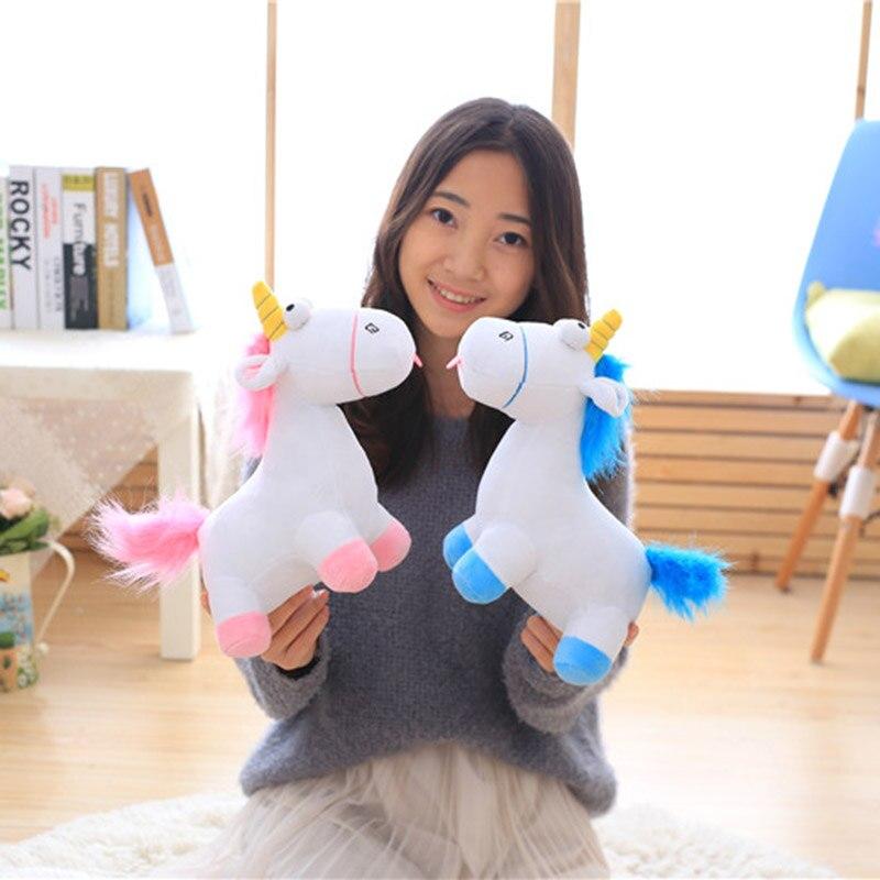 55 cm bleu rose licorne en peluche enfants peluche animaux petits jouets doux pour enfants poupées une pièce décoration de la maison kawaii cadeau