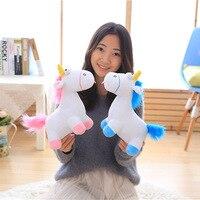 55cm blue pink unicorn plush kids Stuffed Animal small Soft toys for children dolls one piece Home decoration kawaii gift